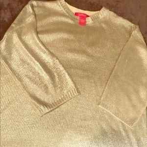 Catherine M Metallic Sweater